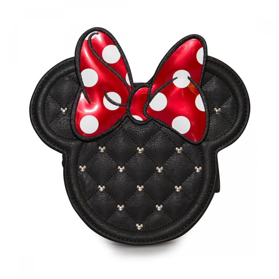 Bandolera Acolchada con Cadena - Loungefly Disney - Minnie Mouse
