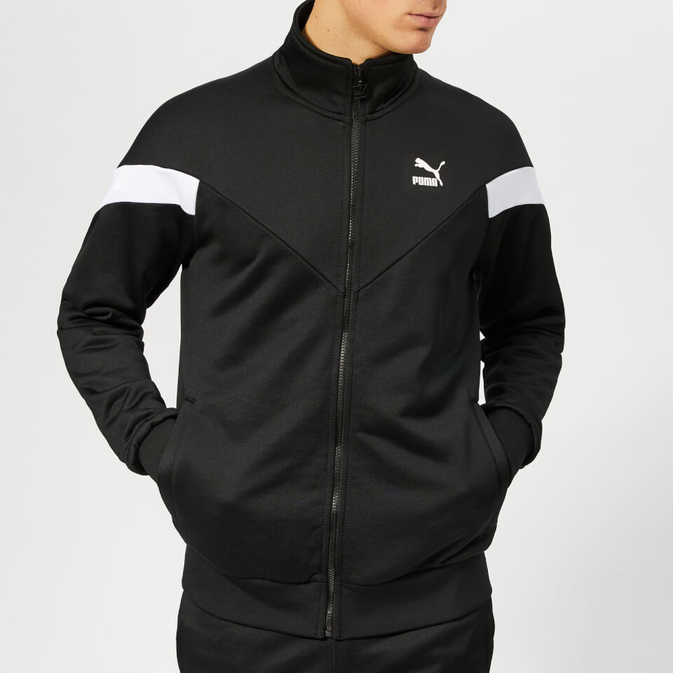 Puma Men's Iconic MCS Track Jacket - Puma Black - XL - Black