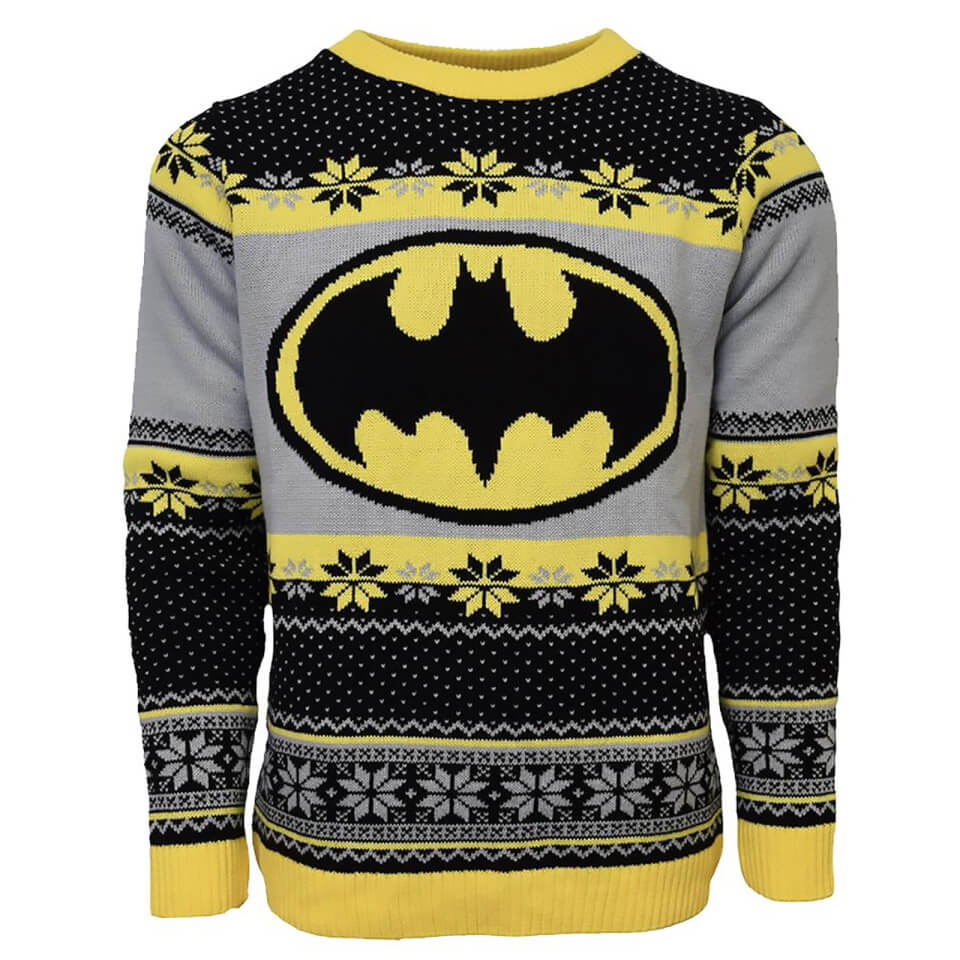 Batman Christmas Jumper - Black - S - Negro