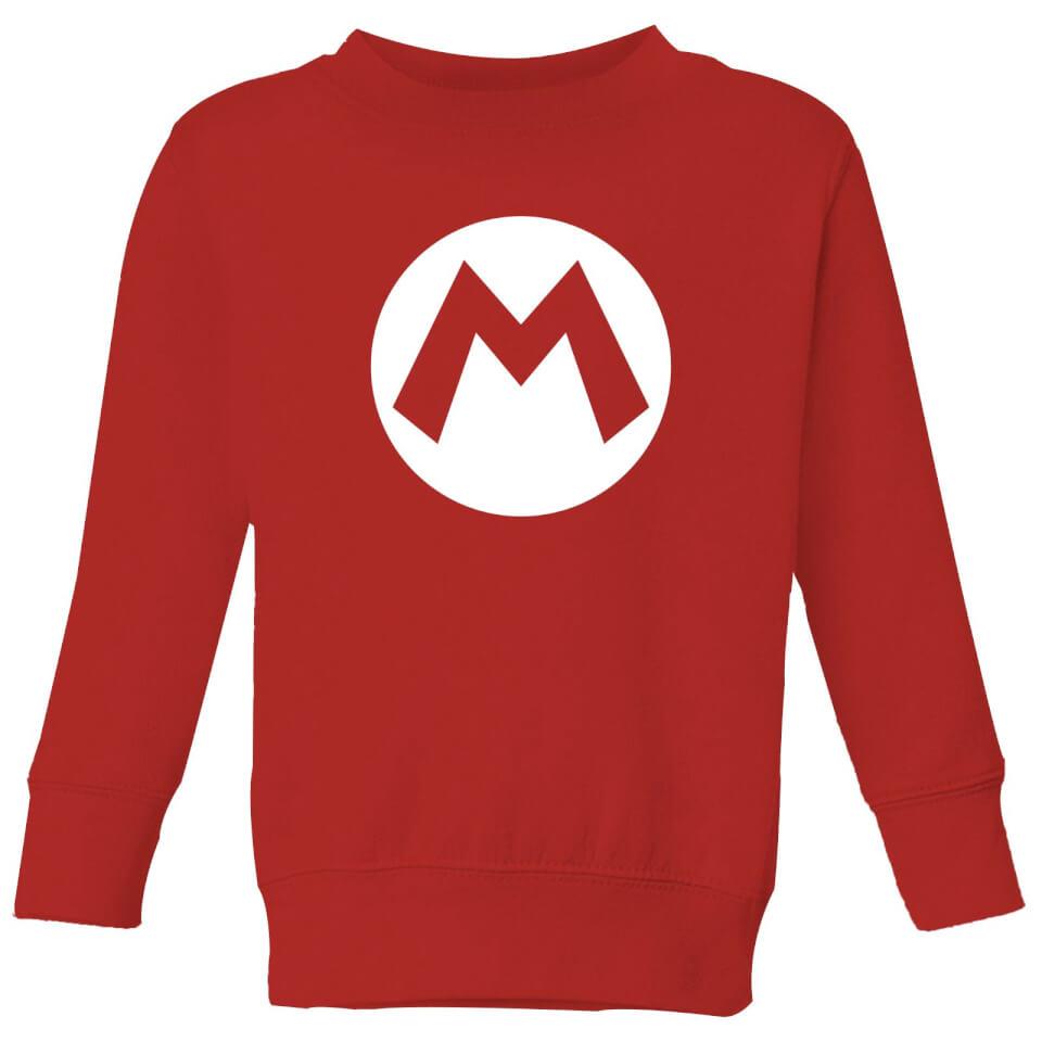 - Nintendo Super Mario Logo Kids' Sweatshirt Red 3 4 Jahre - Onlineshop Sowas Will Ich Auch