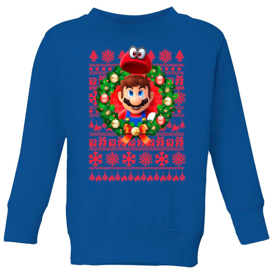 - Nintendo Super Mario Mario and Cappy Kid's Sweatshirt Royal Blue 3 4 Jahre Royal Blue - Onlineshop Sowas Will Ich Auch