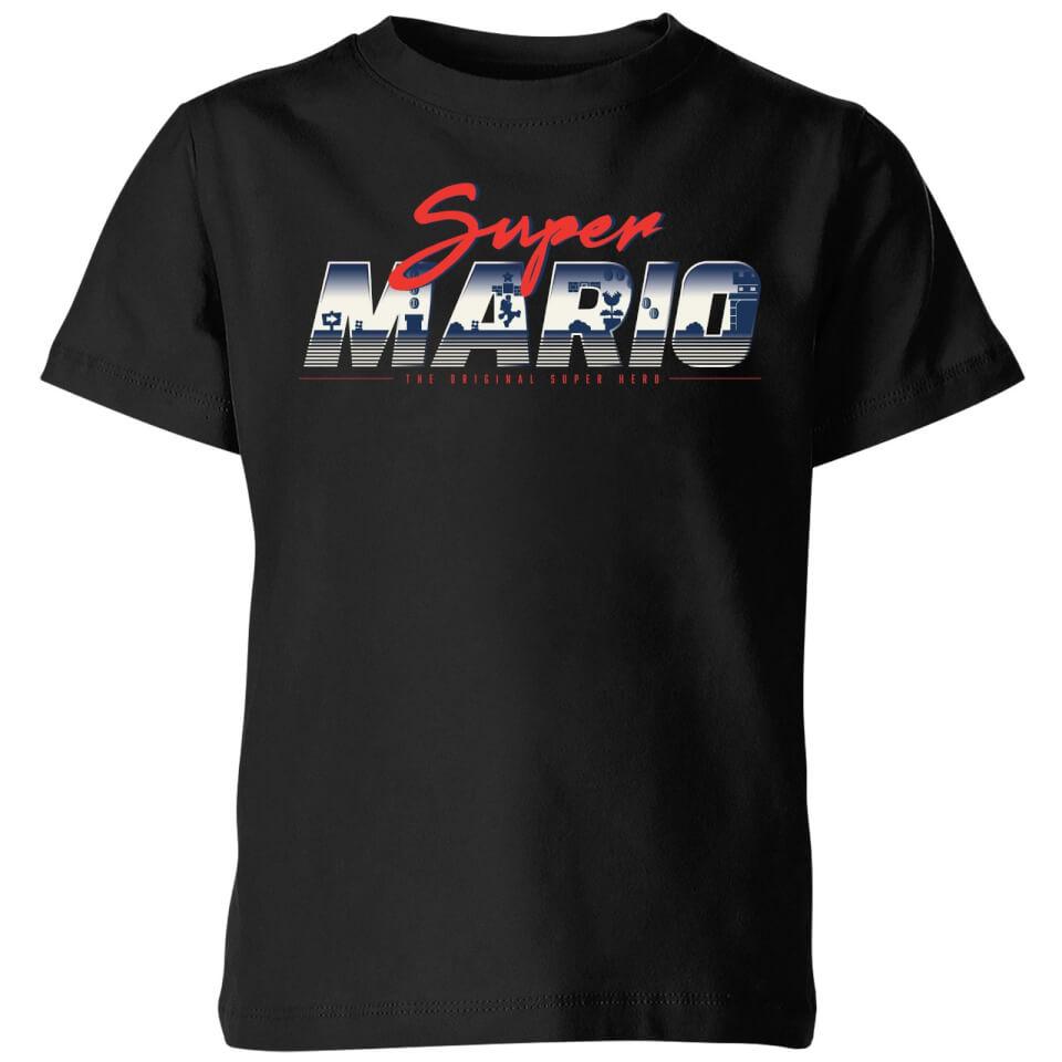 - Nintendo Super Mario Original 80s Hero Kids' T Shirt Black 11 12 Jahre - Onlineshop Sowas Will Ich Auch