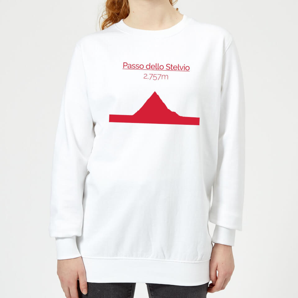 Summit Finish Passo Dello Stelvio Women's Sweatshirt - White | Jerseys