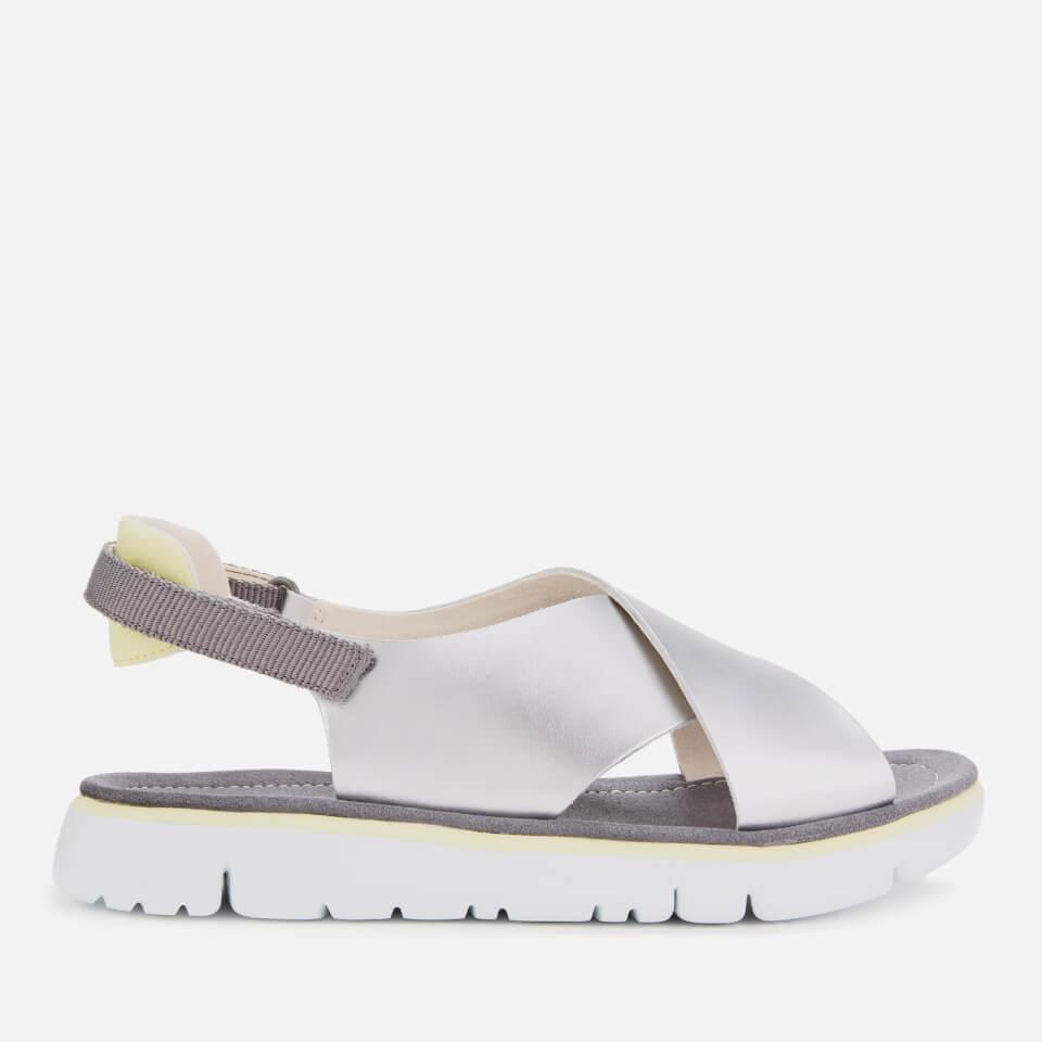 Camper Women's Cross Front Sandals - Medium Grey - UK 5 - Silver