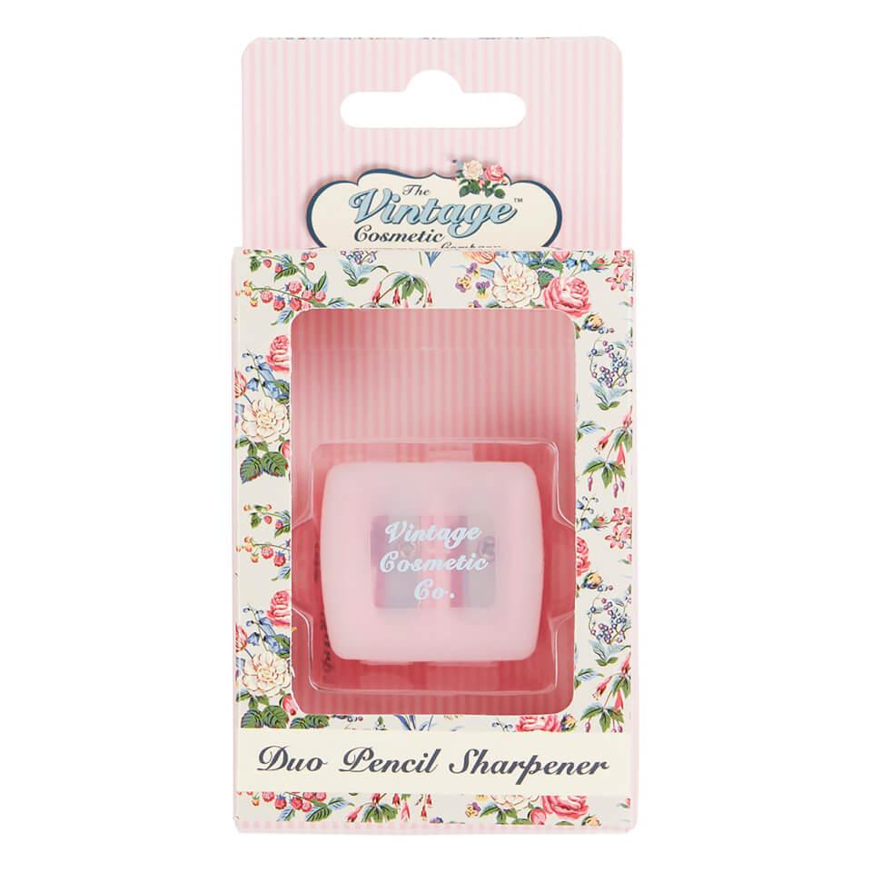 The Vintage Cosmetic Company Pink Polka Dot Duo Pencil Sharpener