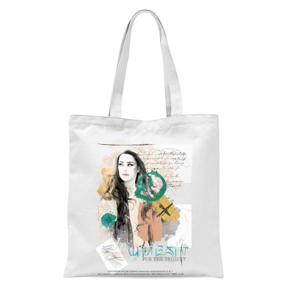 Aquaman Mera Tote Bag - White