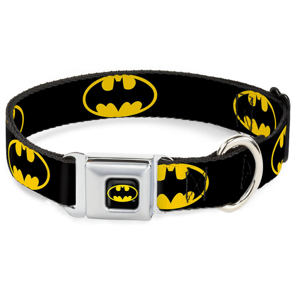 Buckle-Down DC Comics Batman Shield Dog Collar (Various Sizes) - L/15-26 Inches