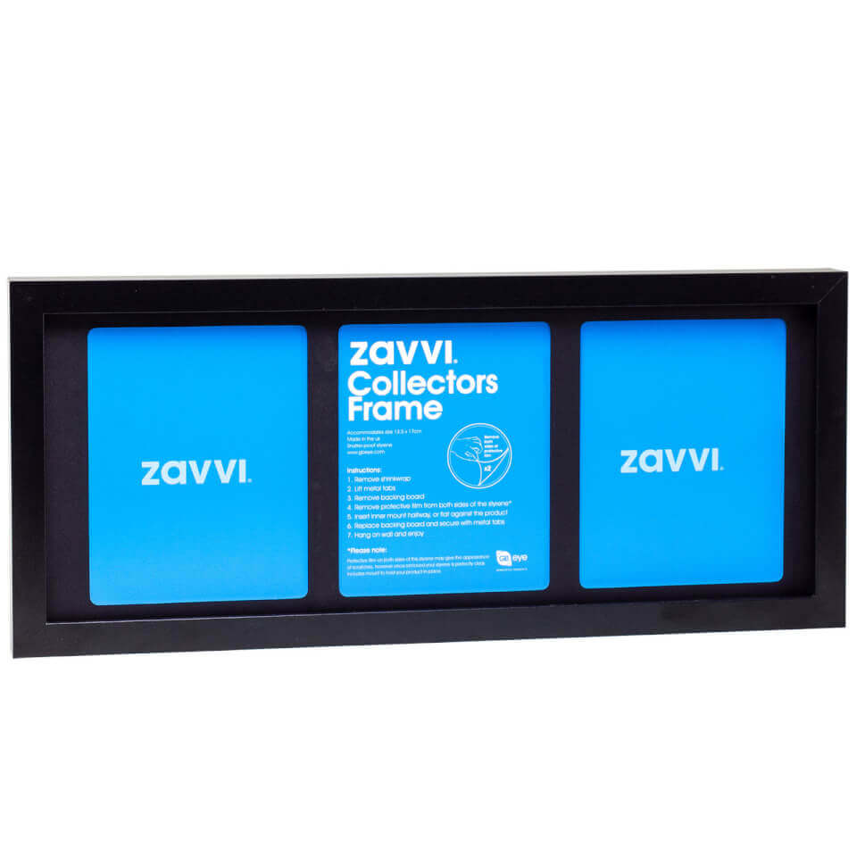 3D Black Collectors Frame with Black Mount 20x50cm