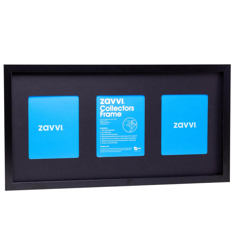 3D Black Collectors Frame with Black Mount 30x60cm