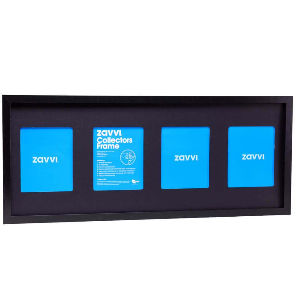 3D Black Collectors Frame with Black Mount 30x76cm