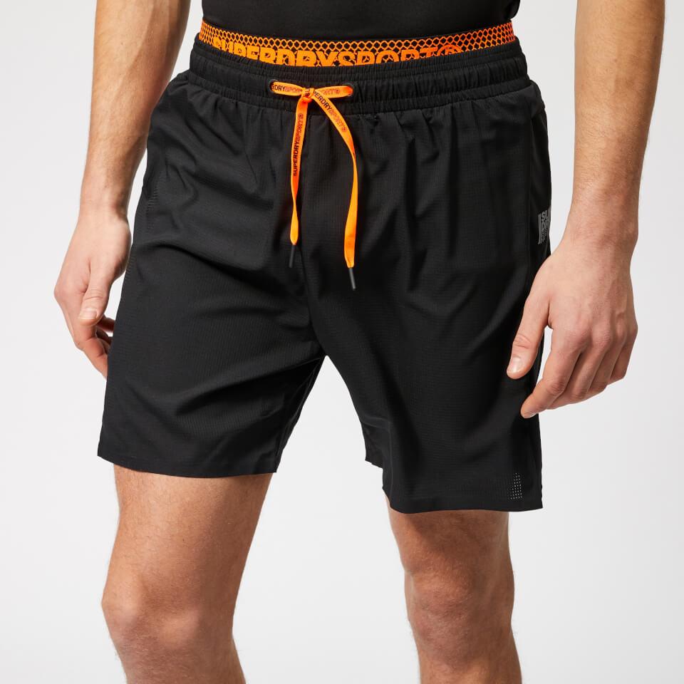 Superdry Sport Men's Active Double Layer Shorts - Black - M - Black