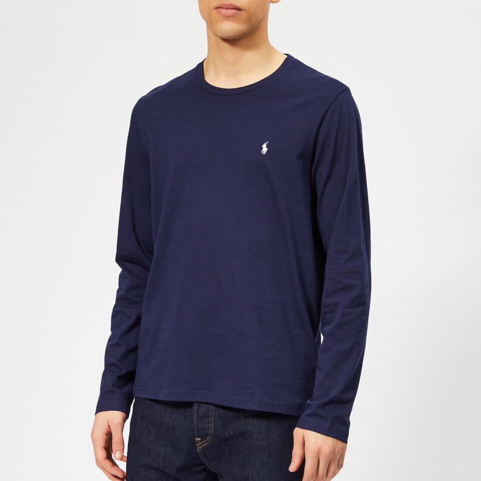 Polo Ralph Lauren Men's Long Sleeve Liquid Jersey T-Shirt - Cruise Navy - XXL - Blue