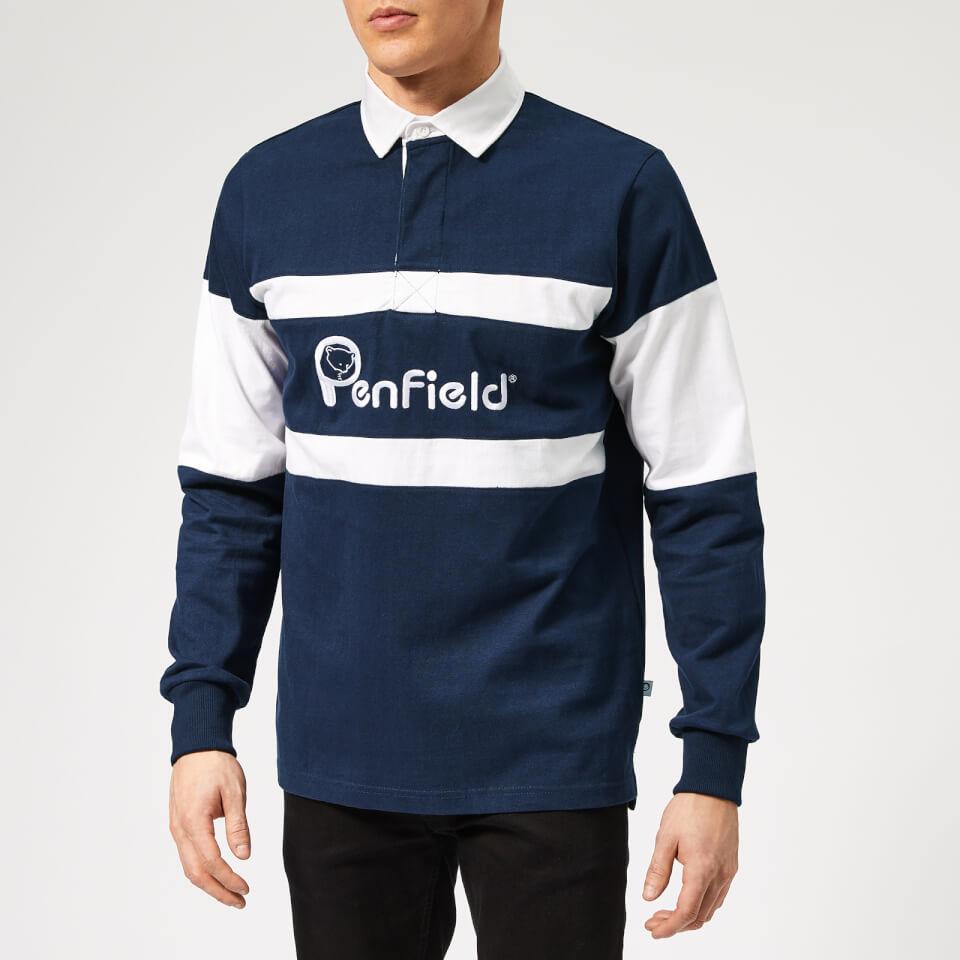 Penfield Men's Cass Rugby Sweatshirt - Navy - L - Blue