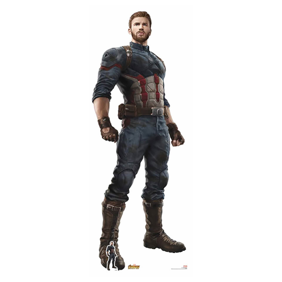 Avengers Infinity War Captain America Lifesize Cardboard Cut Out