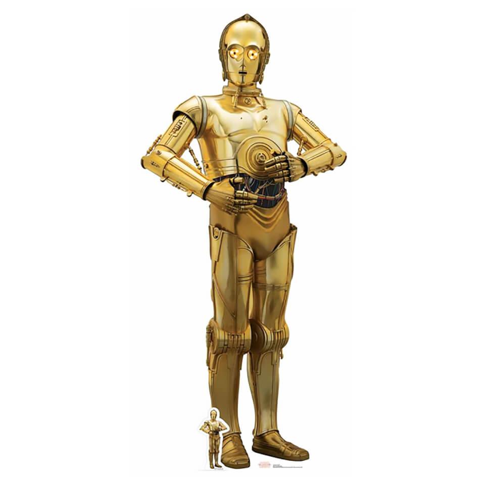 Star Wars The Last Jedi C 3PO Lifesize Cardboard Cut Out