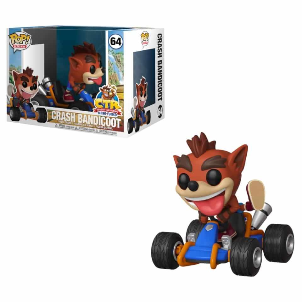 Crash Team Racing Crash Bandicoot Pop! Ride Figur