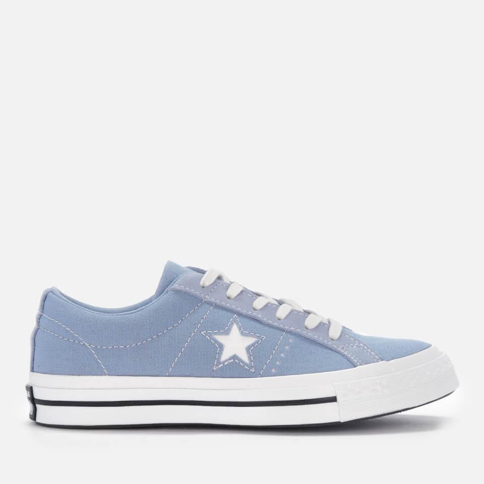 Converse Womens One Star Ox Trainers - Indigo Fogwhite -7115