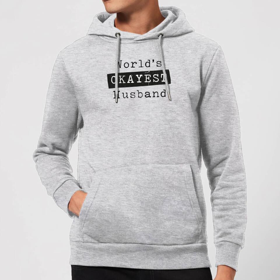 Ausgefallengadgets - World's Okayest Husband Hoodie Grey S Grau - Onlineshop Sowas Will Ich Auch