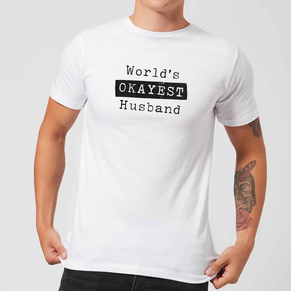 Ausgefallengadgets - World's Okayest Husband Men's T Shirt White XXL Weiß - Onlineshop Sowas Will Ich Auch