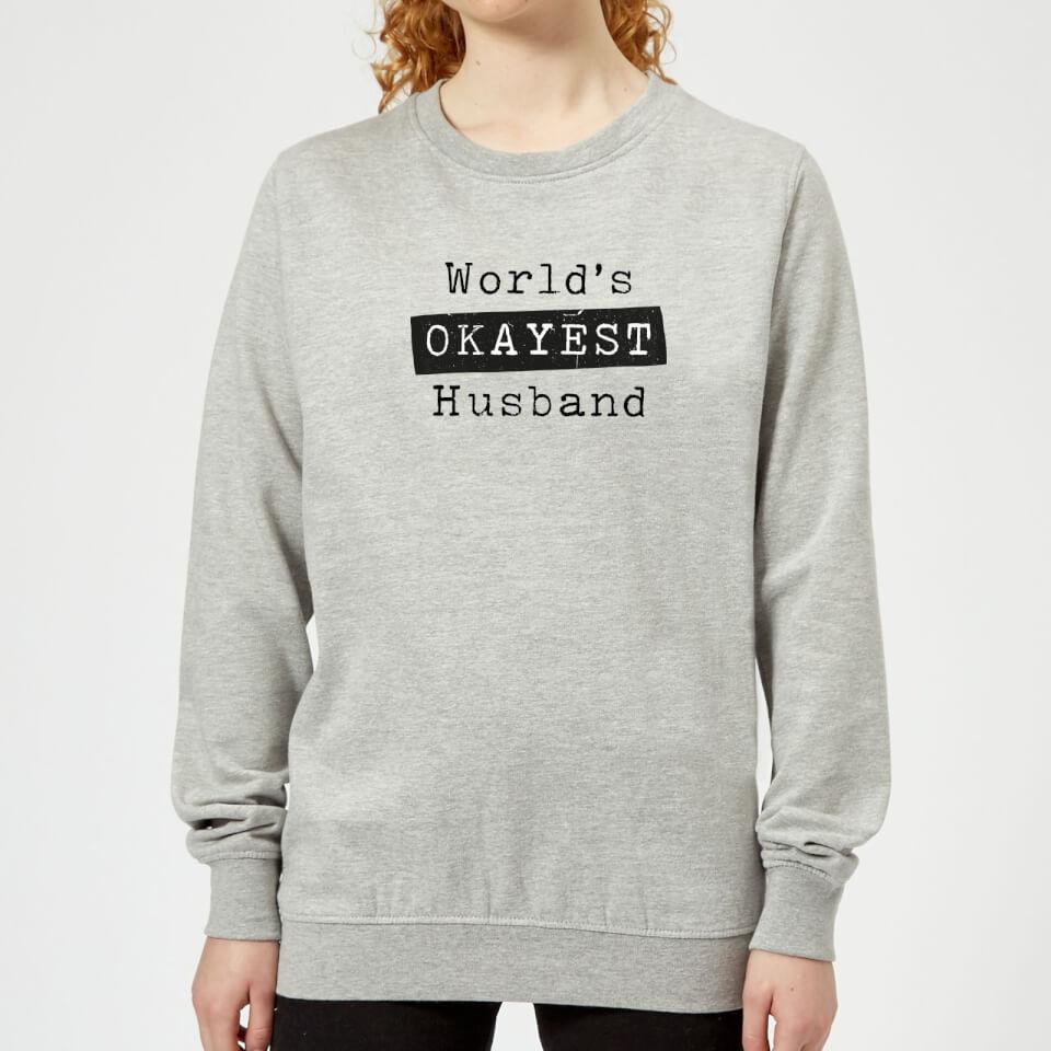 Ausgefallengadgets - World's Okayest Husband Women's Sweatshirt Grey XXL Grau - Onlineshop Sowas Will Ich Auch