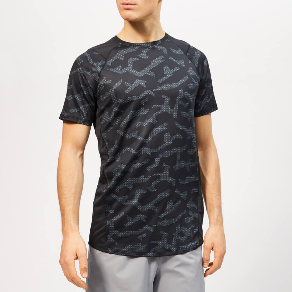 Under Armour Men's MK-1 Short Sleeve Printed T-Shirt - Black - S - Black