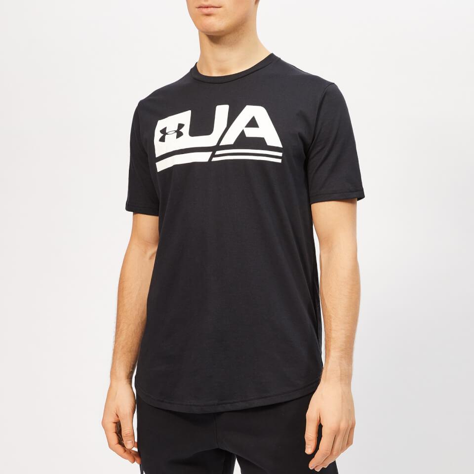 Under Armour Men's Sportstyle Short Sleeve Drop Hem T-Shirt - Black - S - Black