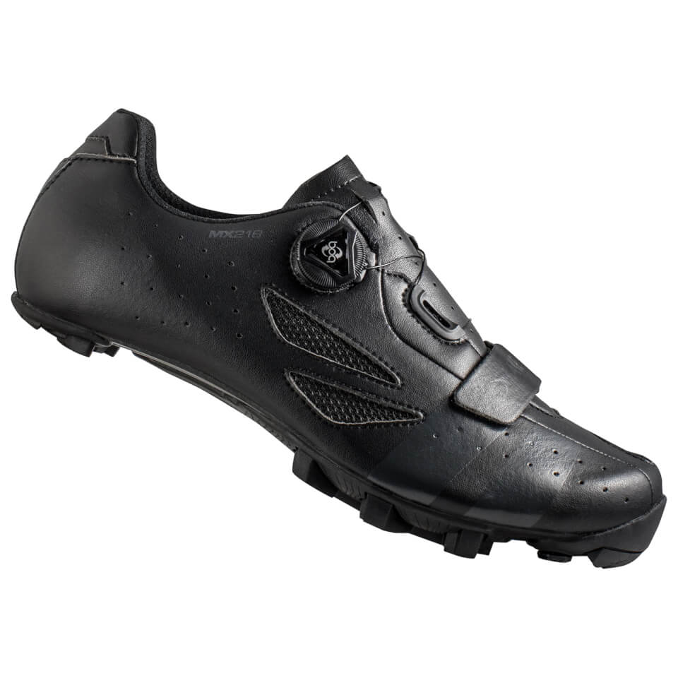 Lake MX218 Carbon MTB Shoes - Black/Grey | Shoes and overlays