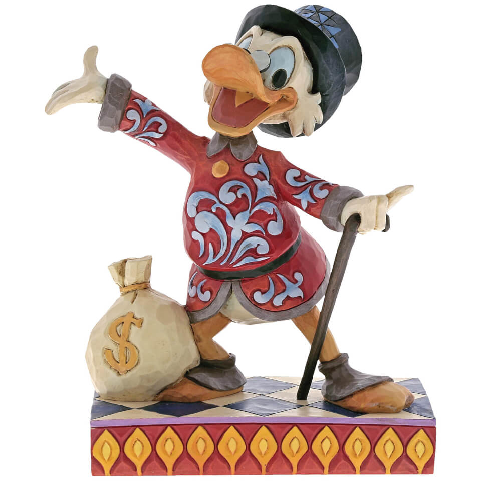 Disney Traditions Treasure Seeking Tycoon (Dagobert Duck mit Geldsack) 16,5 cm
