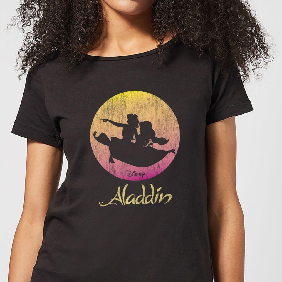 Nützlichfanartikel - Disney Aladdin Flying Sunset Damen T Shirt Schwarz 4XL - Onlineshop Sowas Will Ich Auch