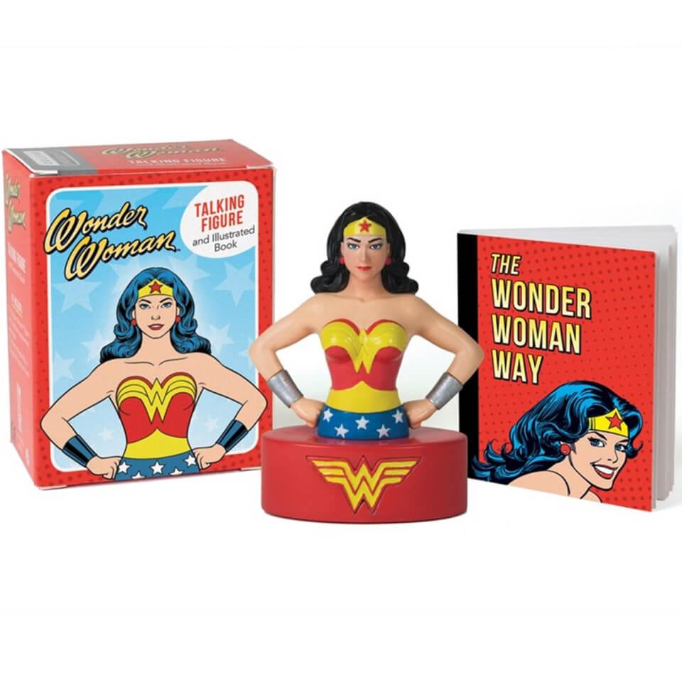 Wonder Woman Talking Figure and Illustrated Book MiniKit