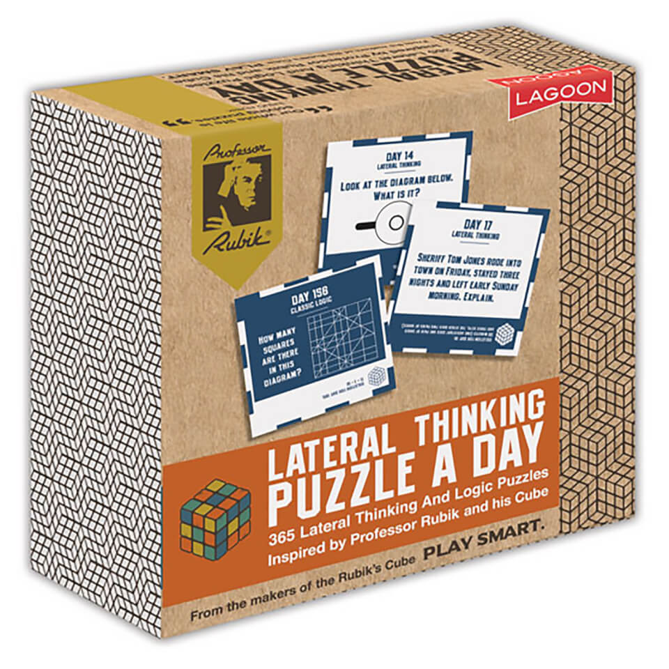 Rubik Lateral Thinking Puzzle A Day Desk Block
