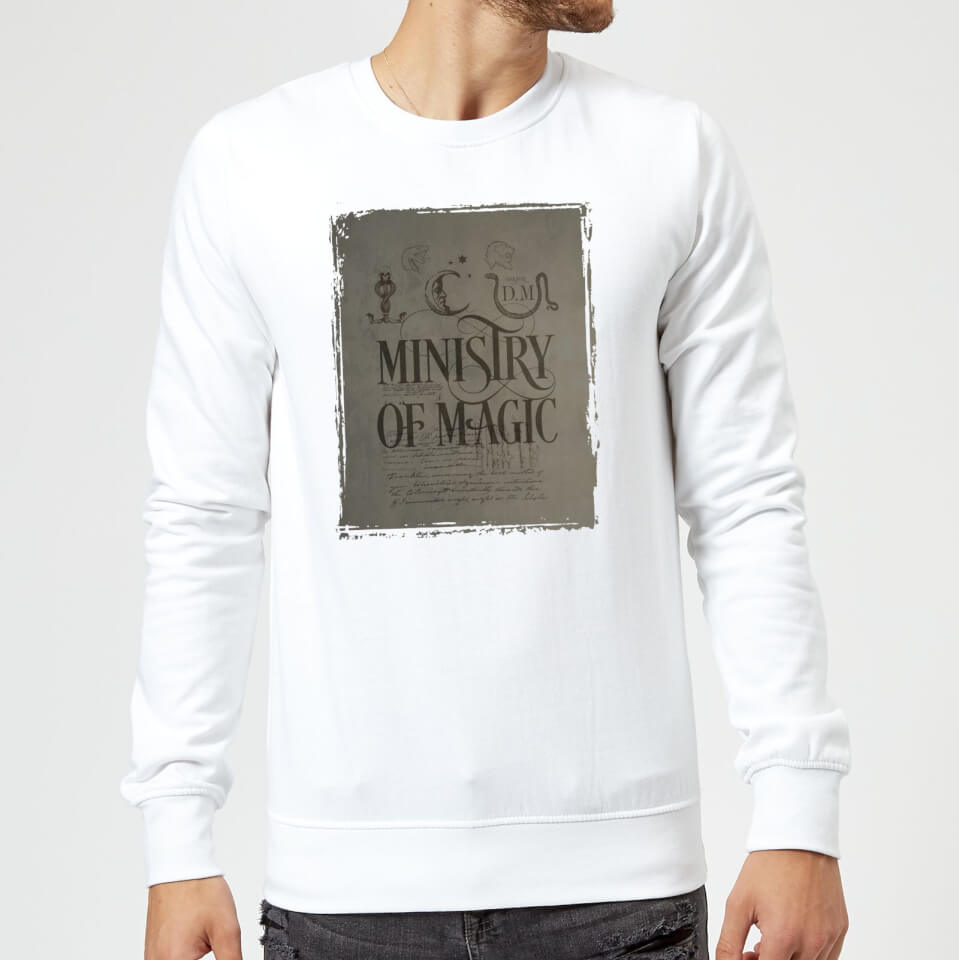 Harry Potter Ministry Of Magic Sweatshirt - White - 4XL - Blanco