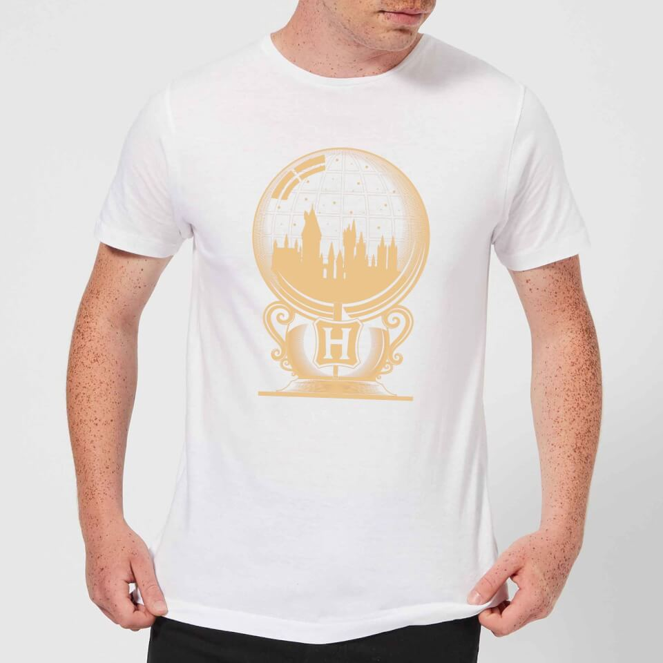 Harry Potter Hogwarts Snowglobe Men's T-Shirt - White - XL - Blanco