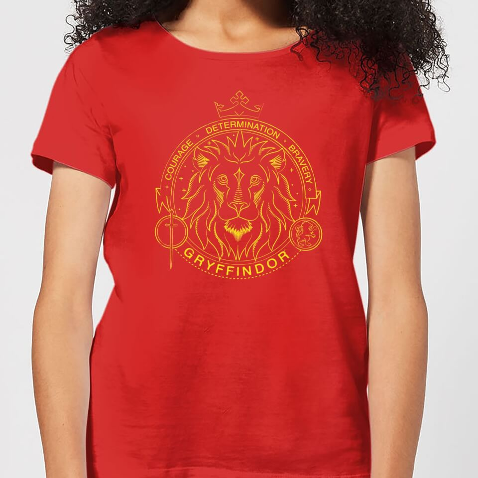 Harry Potter Gryffindor Lion Badge Women's T-Shirt - Red - XS - Rojo