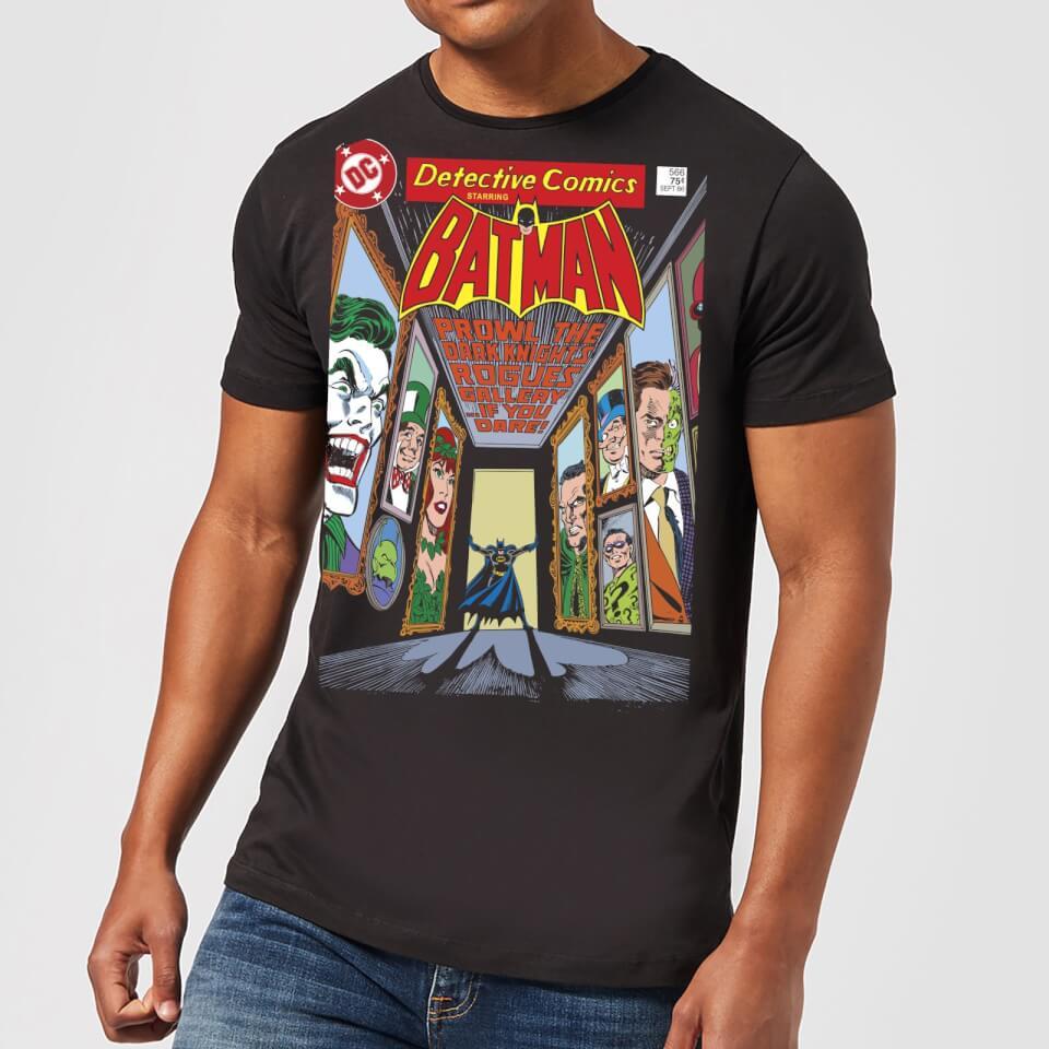 Batman The Dark Knight's Rogues Gallery Cover Men's T-Shirt - Black - 3XL - Negro