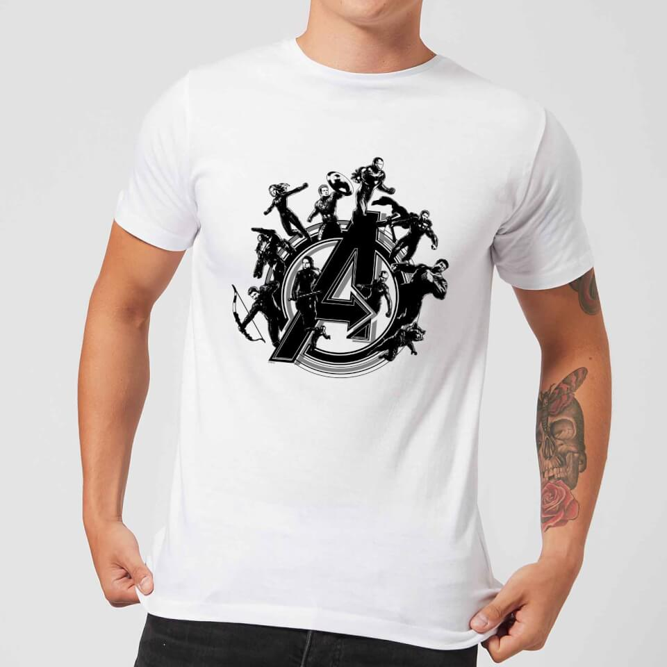 Avengers Endgame Hero Circle Men S T Shirt White
