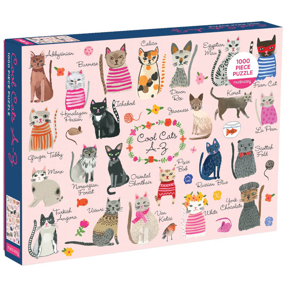 Cool Cats A Z 1000 Piece Puzzle