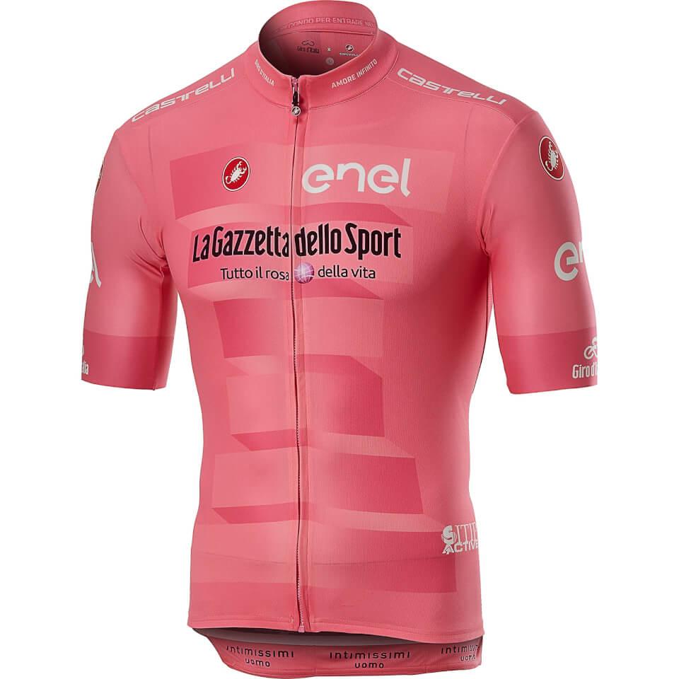 Castelli Giro D'Italia Squadra Jersey - Rosa Giro   Trøjer
