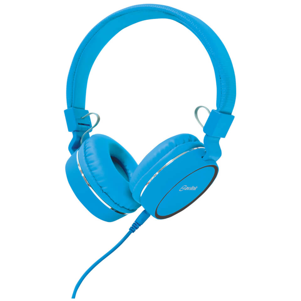 AV: Link Multimedia Headphones with Inline Microphone - Blue/Black