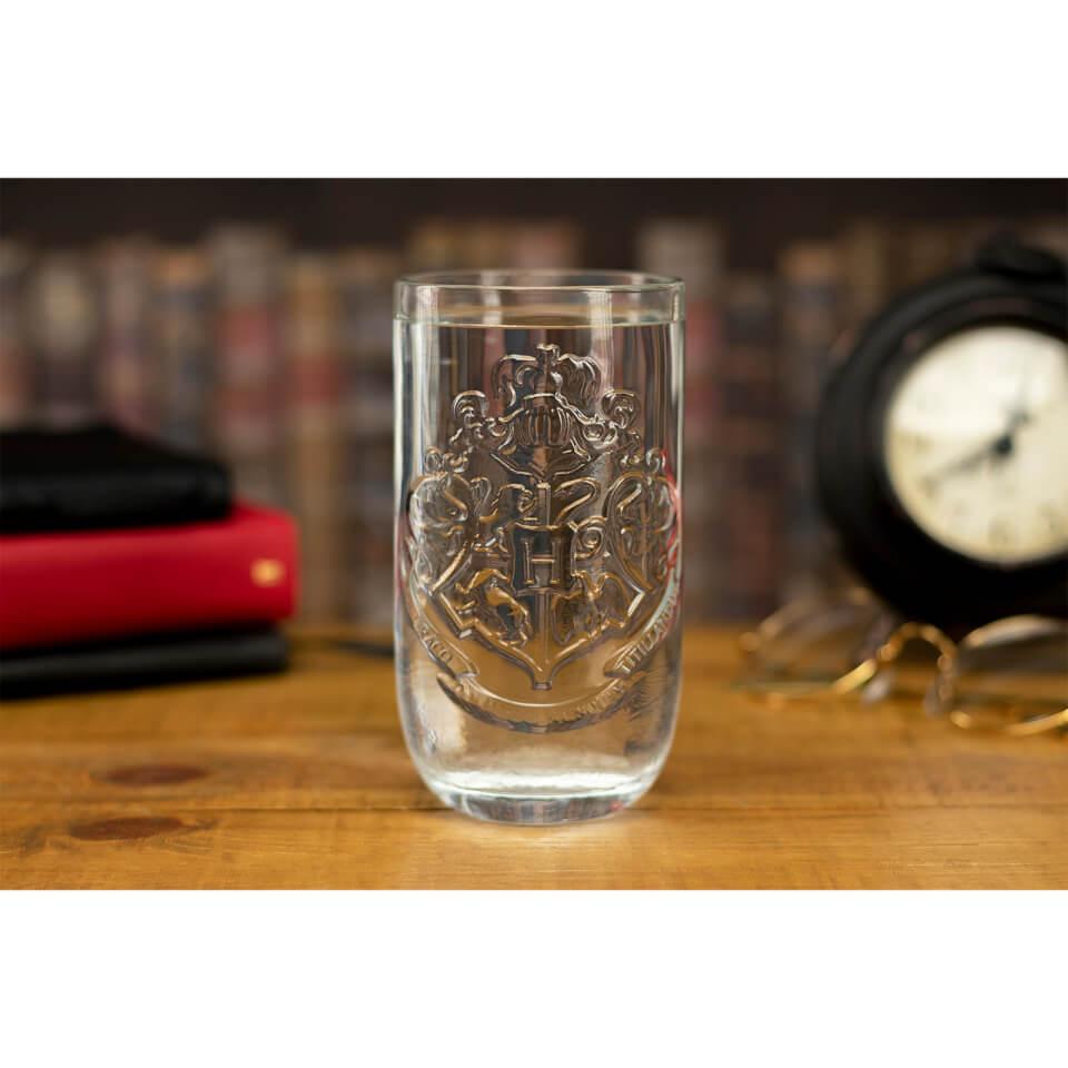 Nützlichfanartikel - Harry Potter Hogwarts Wappen Trinkglas - Onlineshop Sowas Will Ich Auch