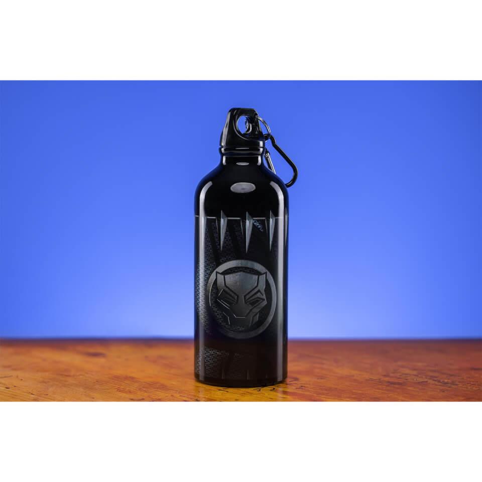 Black Panther Metal Water Bottle