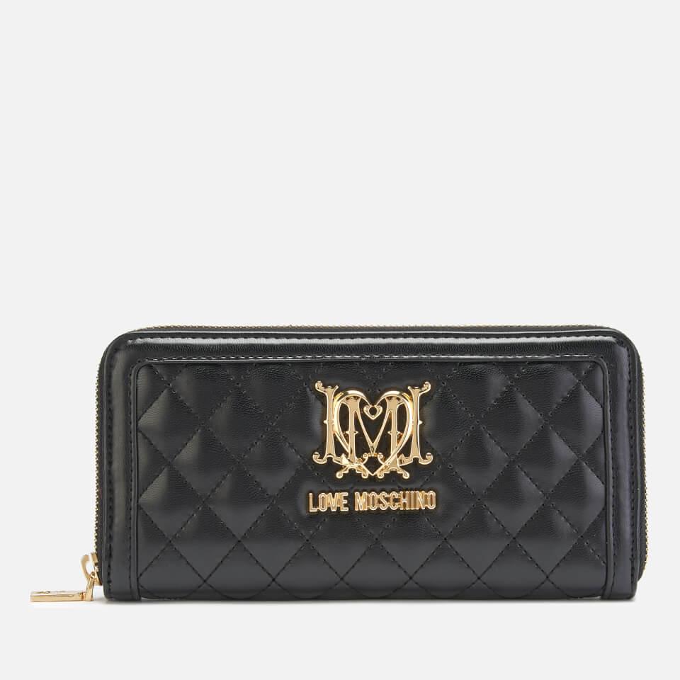 Love Moschino Women's Quilted Zip Around - Black
