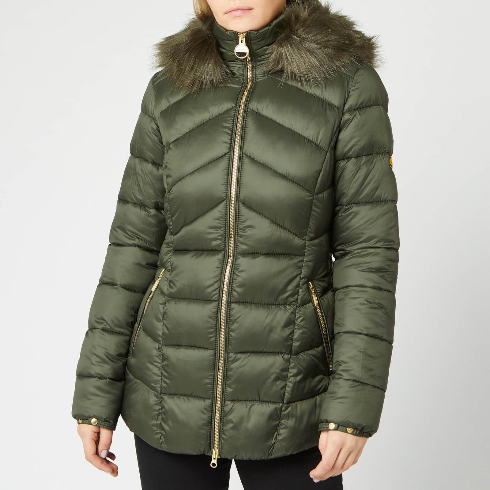 2651187e2 Barbour International Women's Hampton Quilt Coat - Moto Green