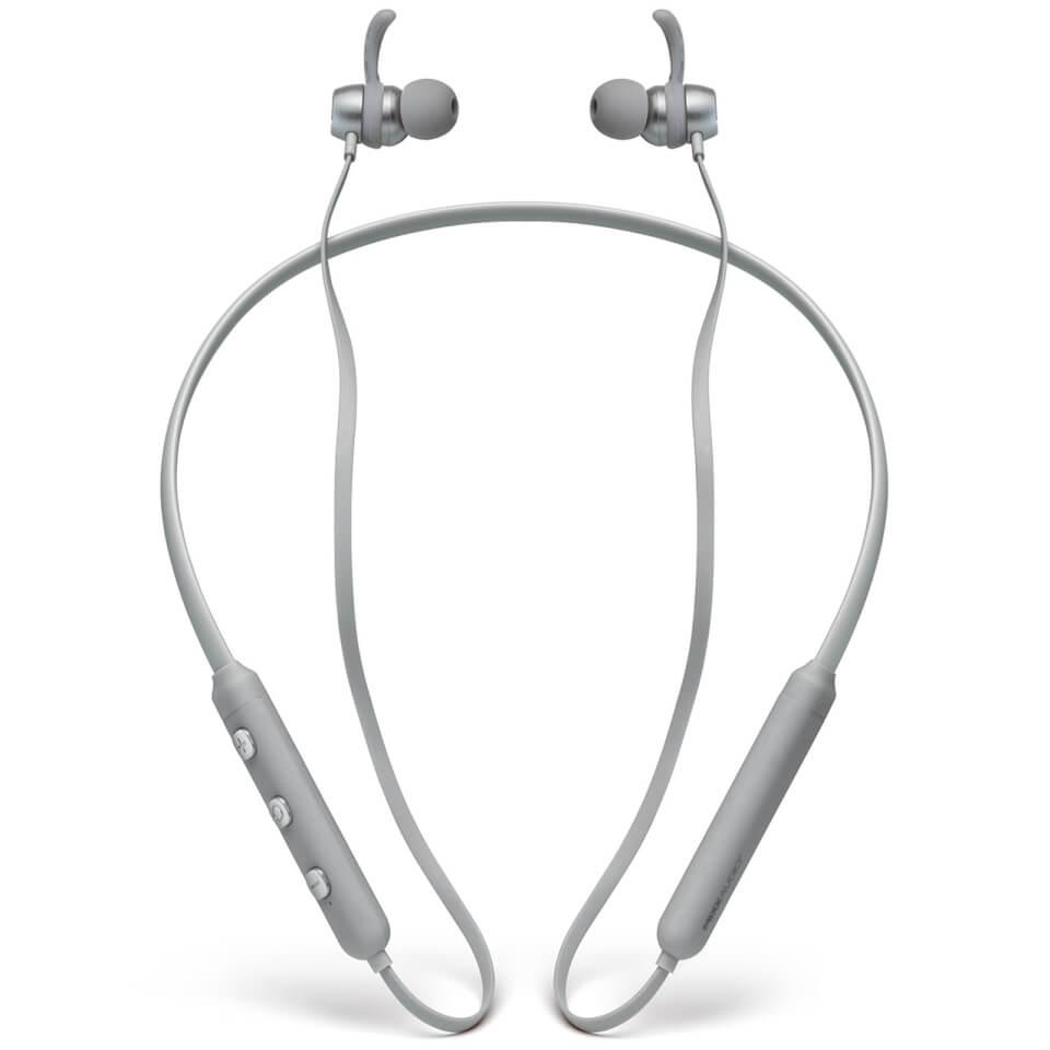 Ausgefallengadgets - MIXX Ultrafit Kabellose Halsbandkopfhörer – Grau - Onlineshop Sowas Will Ich Auch