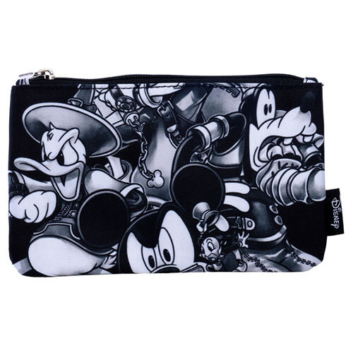 Disney Loungefly Kingdom Hearts Black White Pouch