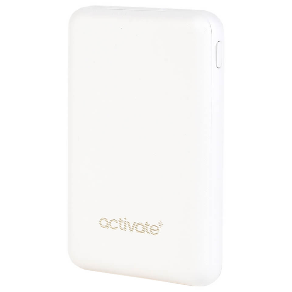 Activate Mini 10000MAH Portable Charger - White