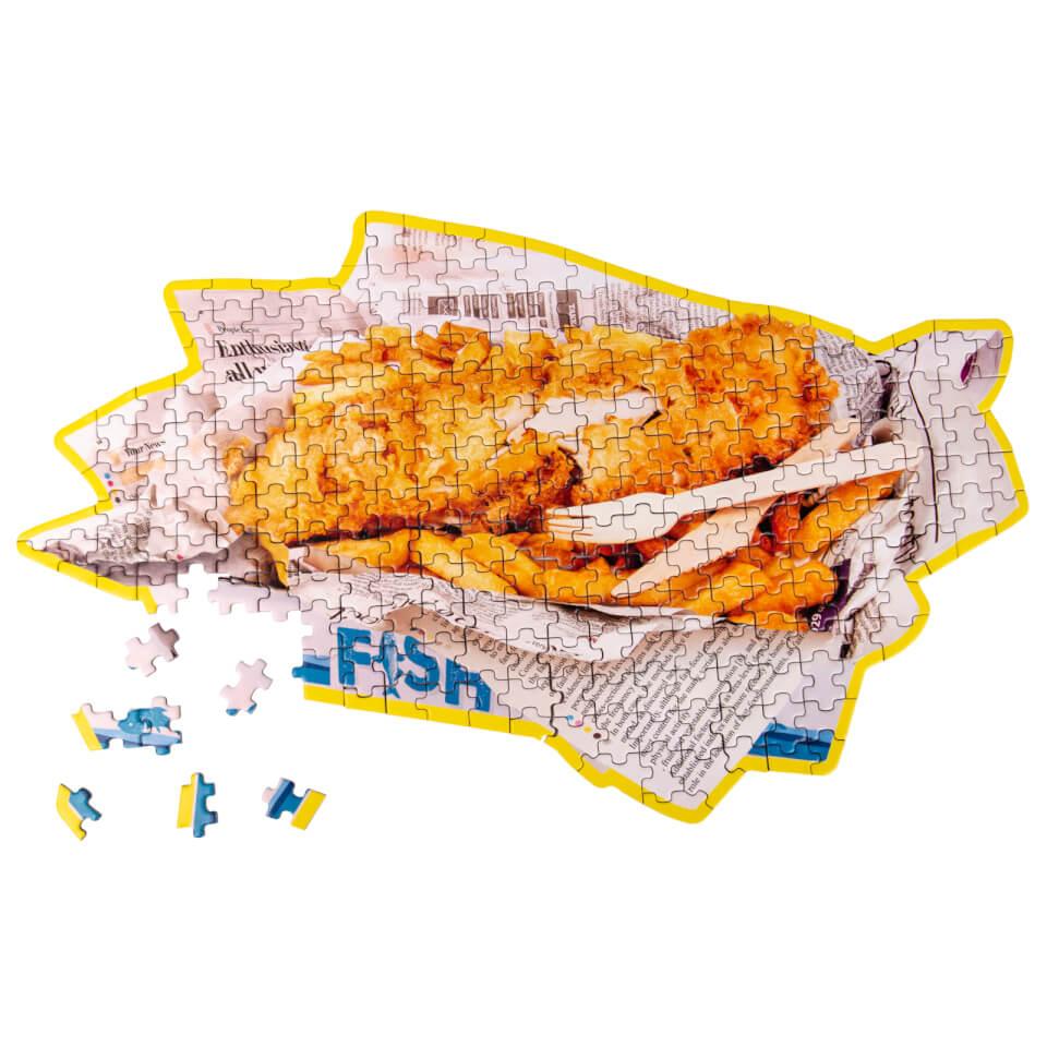Ausgefallenkreatives - Fish Chips Puzzle 250pcs - Onlineshop Sowas Will Ich Auch