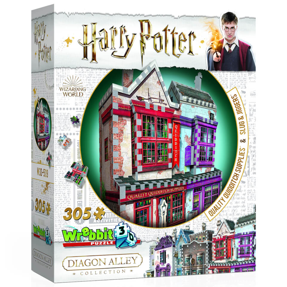 Harry Potter Diagon Alley Collection Quidditch Supplies and Slug & Jiggers 3D Puzzle (305 Pieces)
