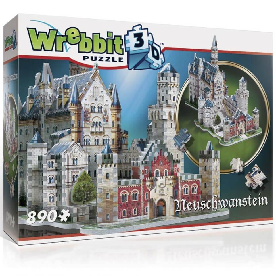 Wrebbit Schloss Neuschwanstein 3D Puzzle (890 Stücke)