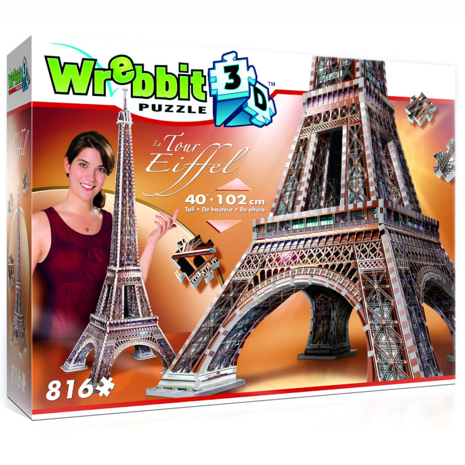 Ausgefallenkreatives - Wrebbit Eiffelturm 3D Puzzle (816 Stücke) - Onlineshop Sowas Will Ich Auch